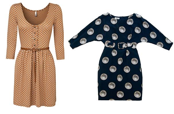 Платья в горошек тенденции моды весна