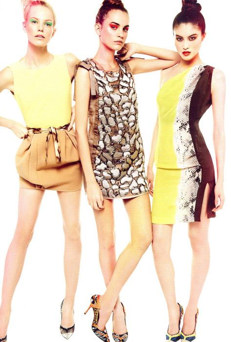 Эскизы моделей женское платье.  Американские коктельные платья.