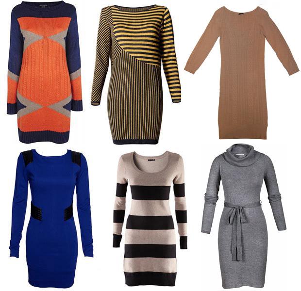 Модные платья 2012 трикотажные фото - модели для стройных и полных...