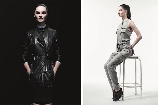 В мужской коллекции представлены как холщовые куртки в стиле милитари...