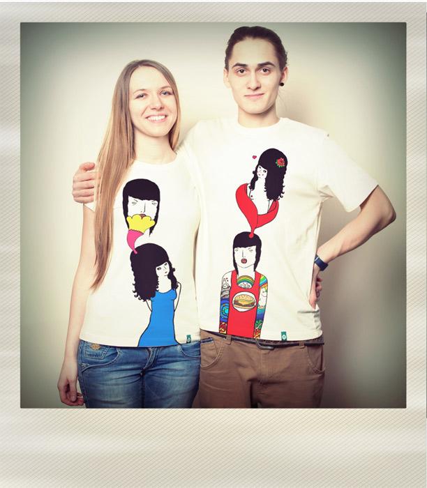 3a38ec5aa0348 Парные принты на футболках от студии Артишок, День Святого Валентина ...