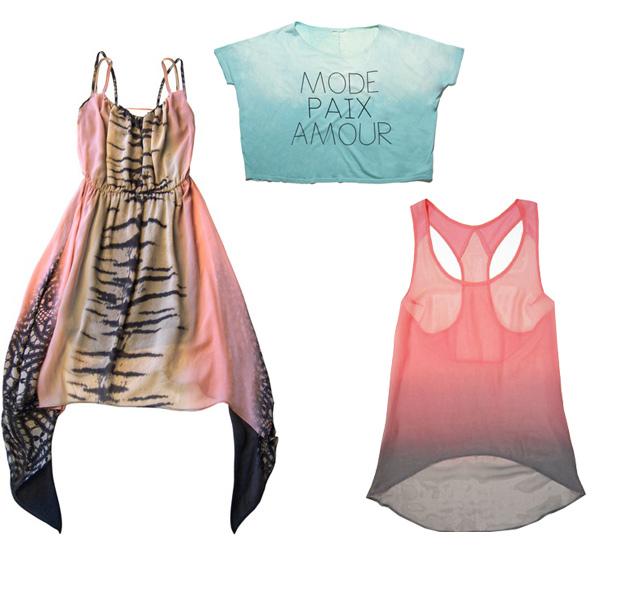 ...2012 Мода весна-лето 2012, Модные вещи .  Модные топы, майки, туники...