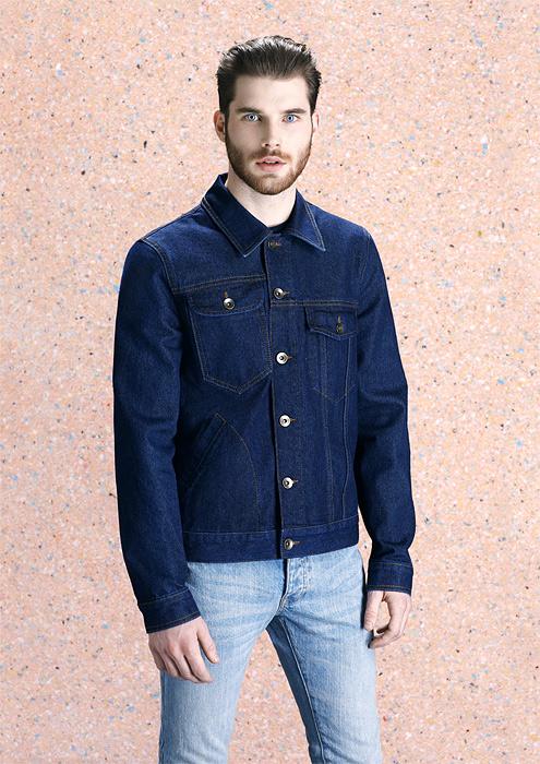 Мужская куртка из джинсовой ткани