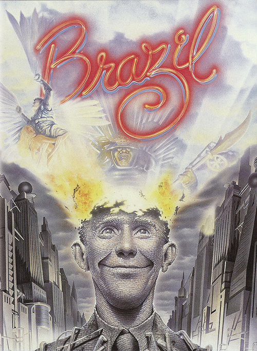 "brazil 1985 by terry gilliam Terry gilliam (writer, director) read answer feed answer terry gilliam do you think ""time bandits"" and ""brazil"" are terry gilliam."