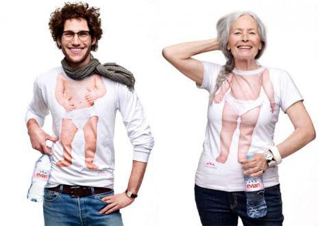 Коллекция футболок от Evian.