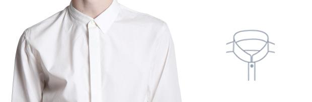 Воротник-стойка выкройка для мужских рубашек