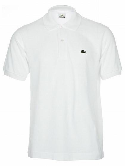 Такой вещью выбираю классическую футболку-поло Lacoste белого цвета.