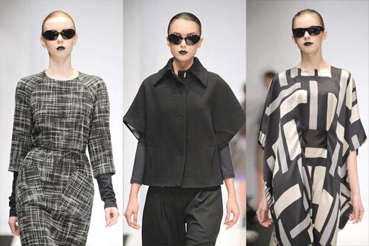 Дизайнерские платья. Осень-зима 2010. Дизайнер Олег  Бирюков. Фото. Фотографии показа коллекции осень-зима 2010-2011.