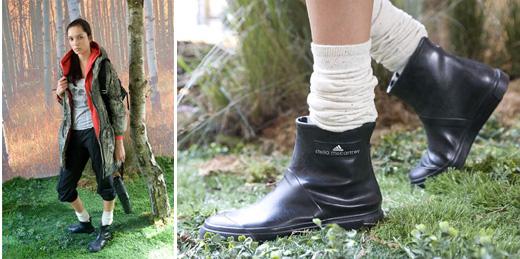 Резиновые сапоги Adidas by Stella McCartney.  Весна-лето 2011.
