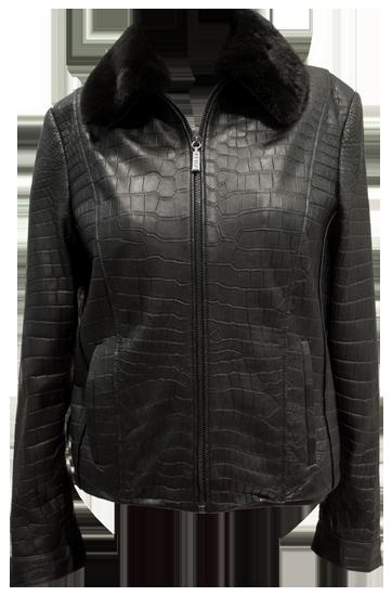 Куртка мужская черная из крокодиловой кожи куртки Zilli BRIG1811/102 в каталоге одежды Be-in.ru.
