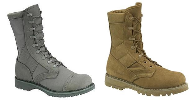 Женская и мужская обувь в стиле милитари.