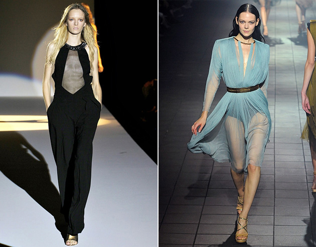 Тенденции моды 2012: прозрачная одежда