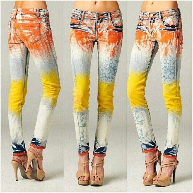 Чем покрасить джинс в домашних условиях