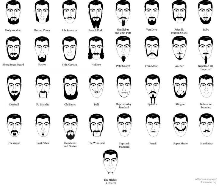 Типа бород, усов и бакенбард (43 фото+текст)