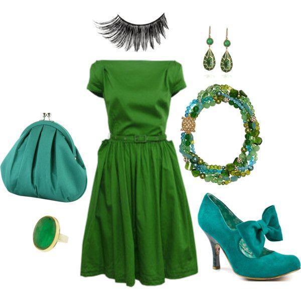 Аксессуары под платье зеленое