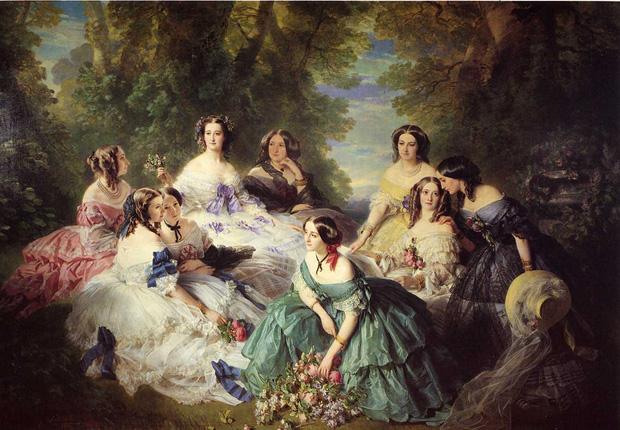 «Императрица Евгения в окружении дам», Франц Ксавер Винтерхальтер, 1855 год