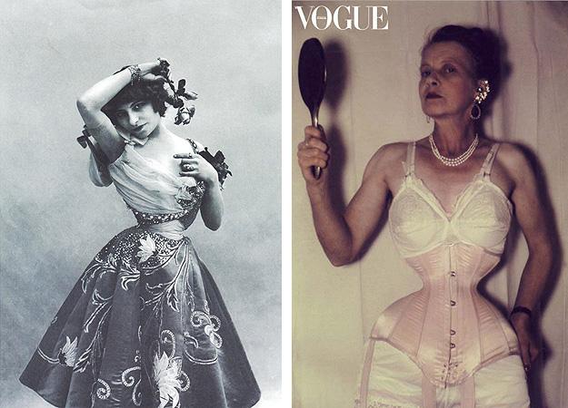 Справа: Полин Полер, слева: съtмка итальянского Vogue