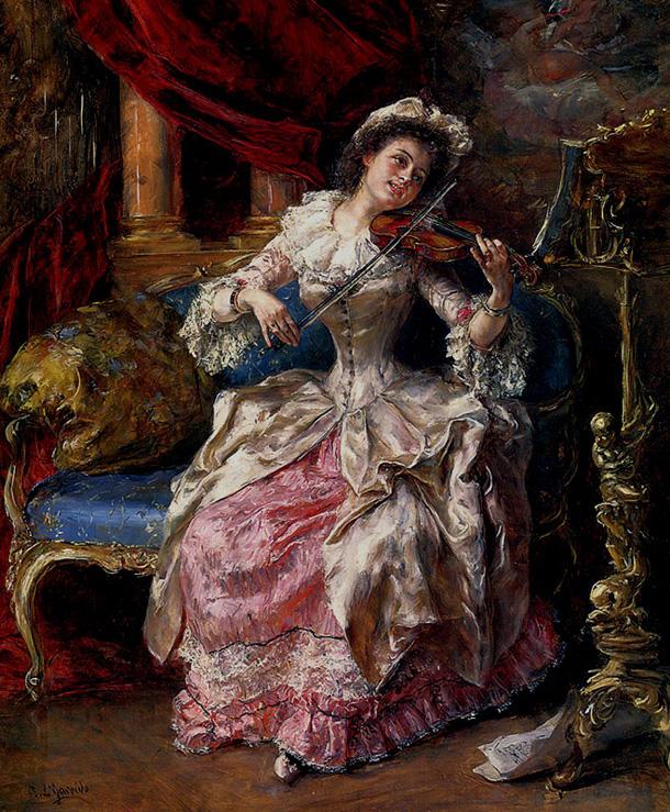 «Музыкальный день», Эдуардо Леон Гарридо, XIX век
