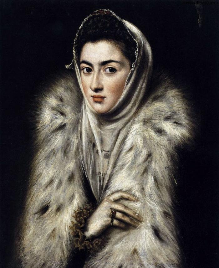 «Дама в мехах», Эль Греко, 1577-1580 годы
