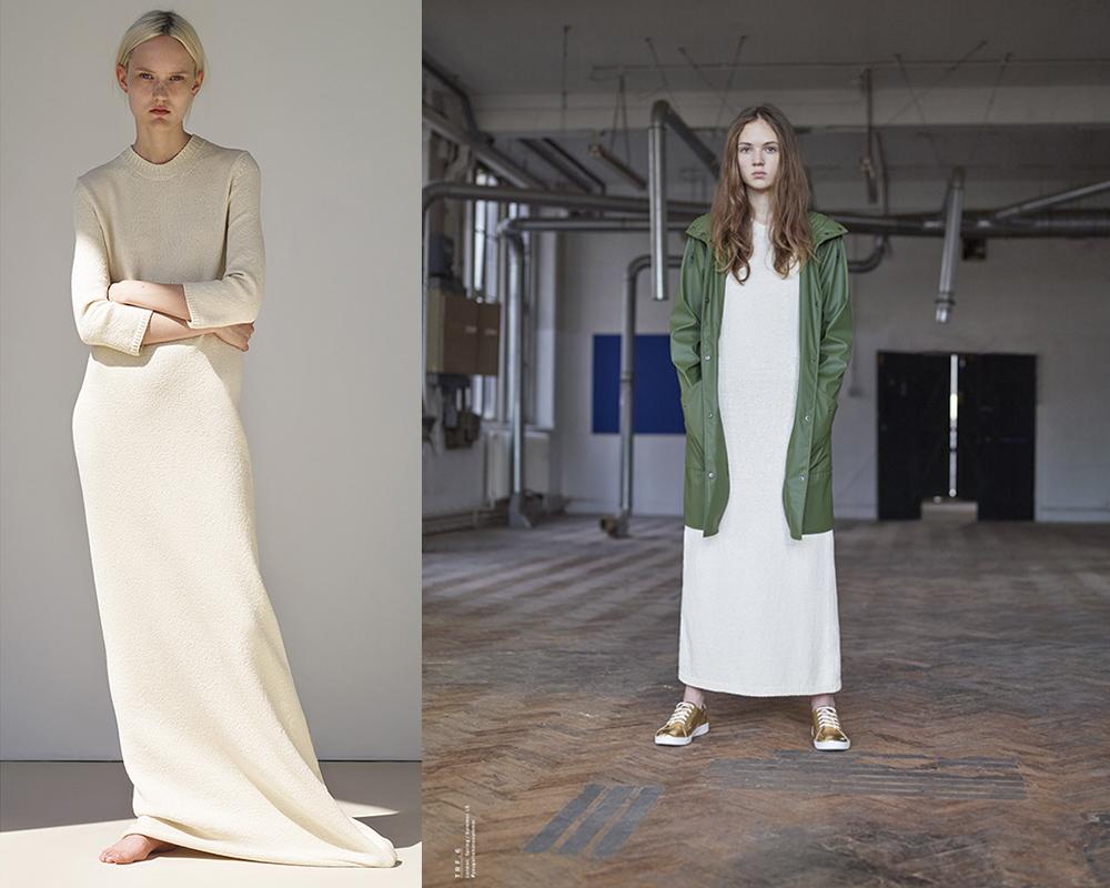 Если говорить о моделях одежды для девочек этой осени-зимы, то здесь господствует классика: трикотажные сарафаны, юбки и платья, а также кофточки ярких