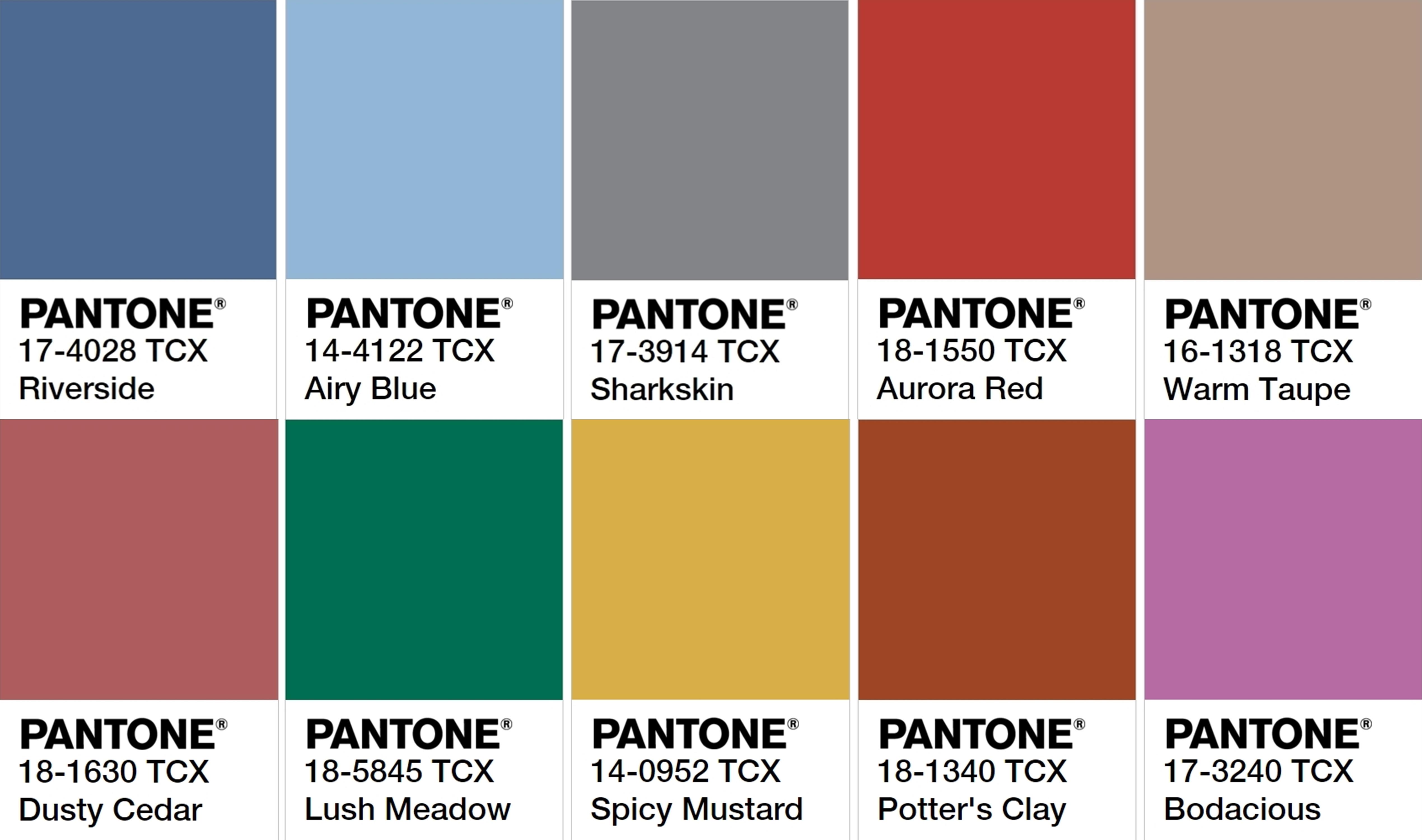 28 Fall 2017 Pantone Colors Pantone Farbpalette