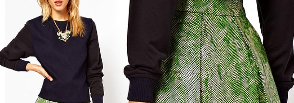 Купить юбку из искусственной кожи в спб