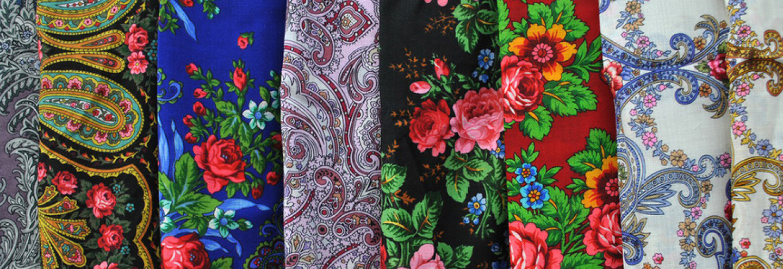 павловские платки фото