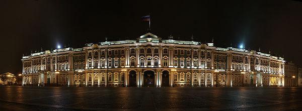 3D-mapping «Бал истории» в честь 250-летия Государственного Эрмитажа
